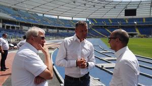 Wizyta przedstawicieli PZLA na Stadionie Śląskim
