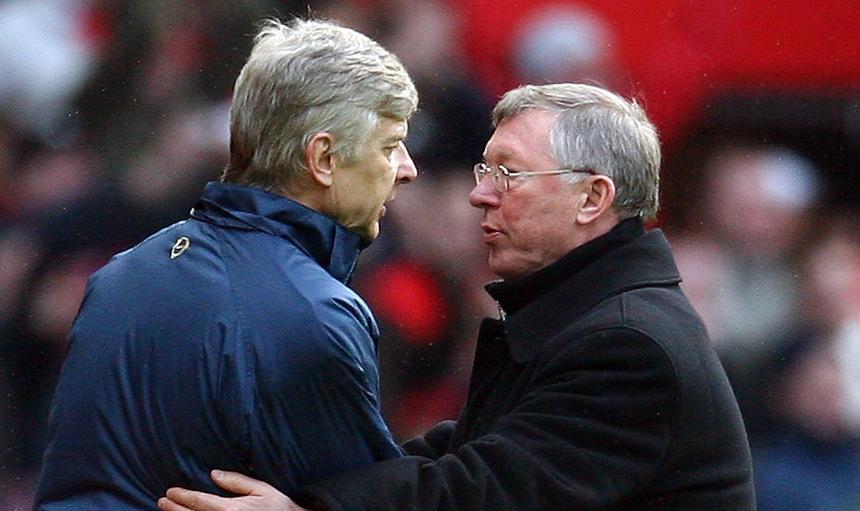 Arsene Wenger i sir Alex Ferguson
