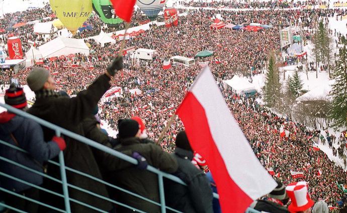 Pierwsze konkursy skoków narciarskich w Polsce w erze