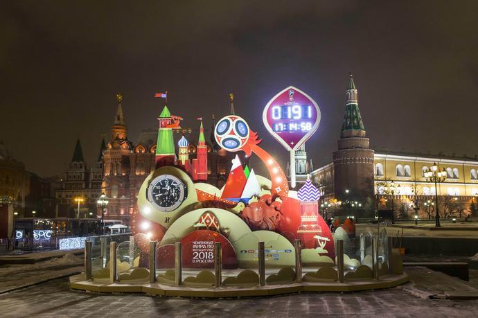 Instalacje artystyczne na ulicach Moskwy przypominają, że za pół roku przyjadą tutaj najlepsze zespoły świata