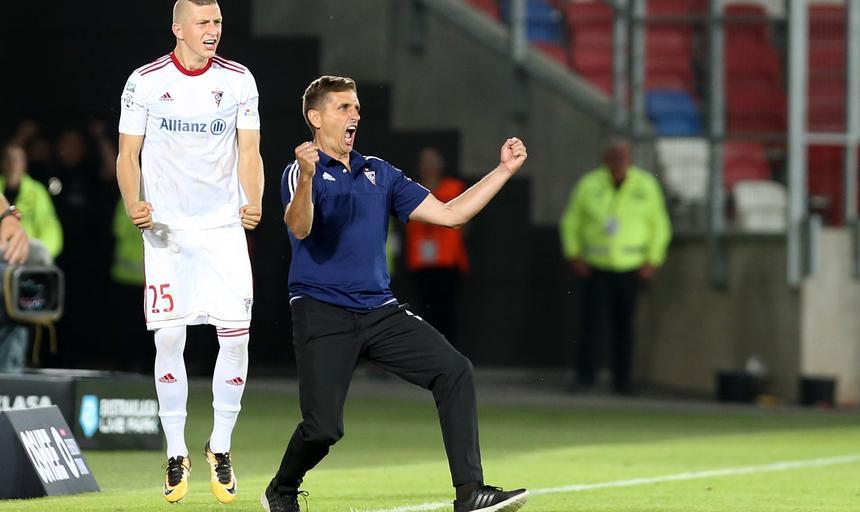 Pilka nozna. Ekstraklasa. Gornik Zabrze - Wisla Krakow. 29.07.2017