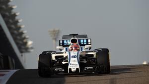 Testy Roberta Kubicy w Williams Martini Racing w Abu Dhabi