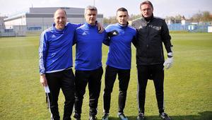 Krzysztof Warzycha, Giorgios Papalamprou, Wojciech Grzyb, Ryszard Kolodziejczyk Sztab Skzoleniowy