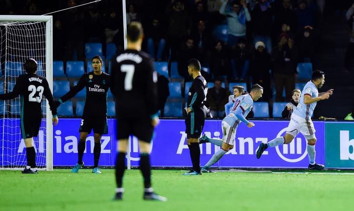 Piłkarze Realu Madryt w niedzielnym meczu nie byli w stanie zatrzymać ataków Celty Vigo