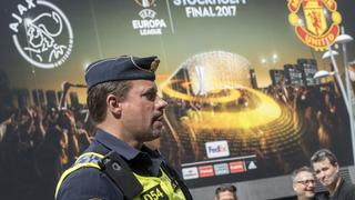 Police officers outside Friends Arena in Stockholm