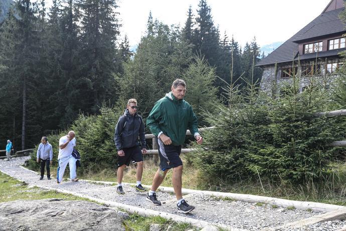Andrzej Gołota w drodze na szczyt. Kroku próbował mu dotrzymać jego fan, Krzysztof Paciorek.
