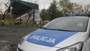 Pilka nozna. GKS Katowice. Policja przed stadionem. 12.05.2017