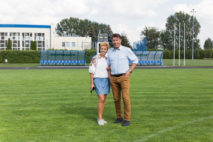 Rodzice reprezentanta Polski – państwo Beata i Daniel Bednarkowie.