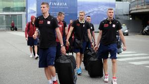 Przylot reprezentacji Polski do Helsinek