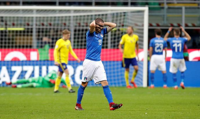 Leonardo Bonucci nie mógł uwierzyć, że jego koledzy nie zdołali zdobyć przynajmniej jednej bramki