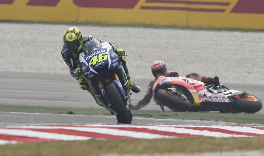 Valentino Rossi Marc Marquez wyścig w Malezji