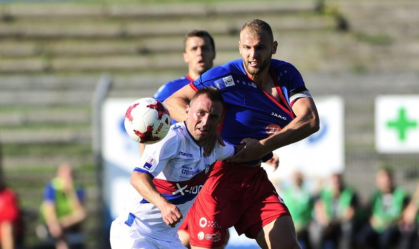 Pilka nozna. Nice1 liga. Odra Opole - Rakow Czestochowa 23.08.2017