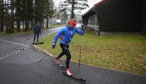 Justyna Kowalczyk, trening, nartorolki