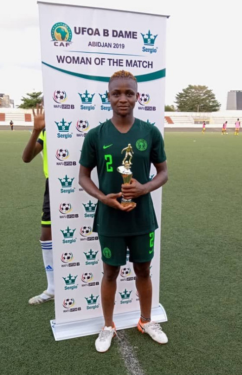 Uchenna Kanu has been included in the squad following her impressive performance at the ongoing WAFU Women's Cup (Twitter/NGSuper_Falcon)