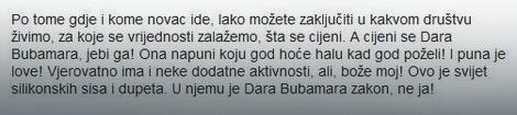 Izjava Glogovca na bosanskom portalu