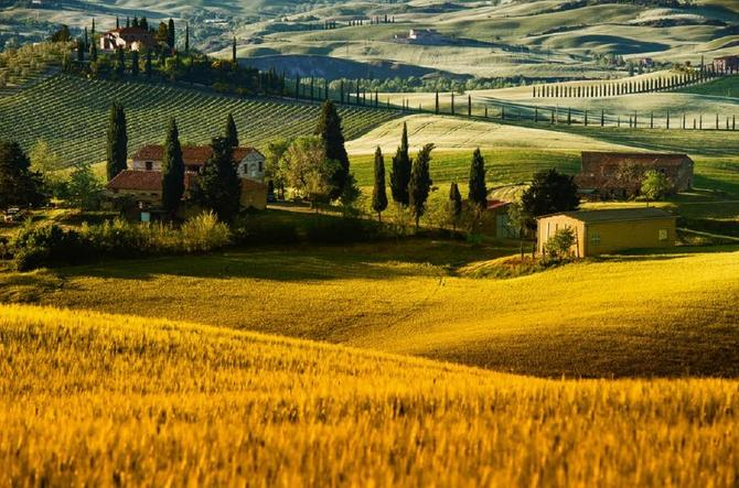 Bajkovito lep prizor iz Toskane
