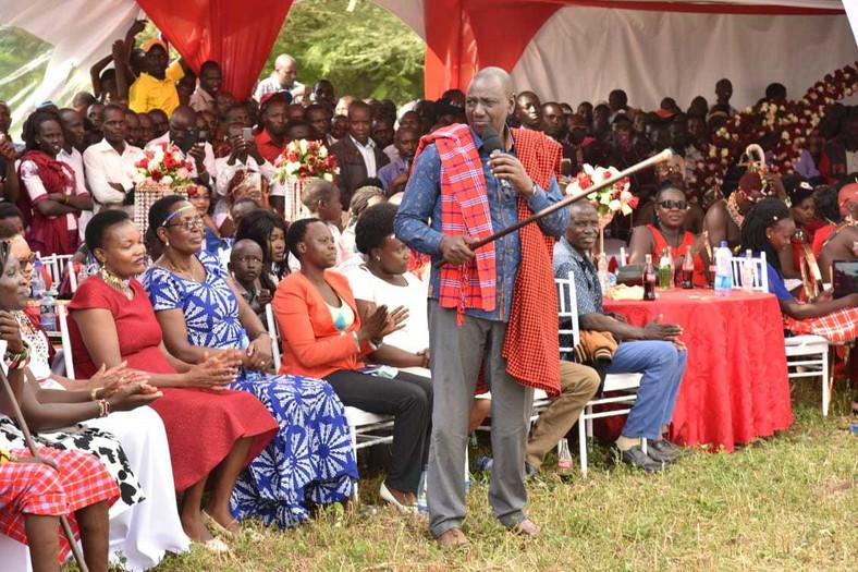DP Ruto at Alex Olempaka's wedding in Baringo
