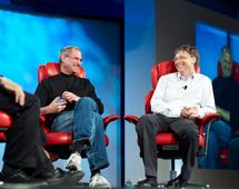 Steve Jobs i Bill Gates, marzec 2007 r.