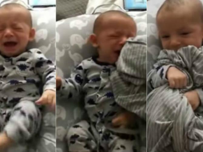 Tata je ostao sam sa uplakanom bebom: A onda je našao SJAJAN TRIK da je smiri
