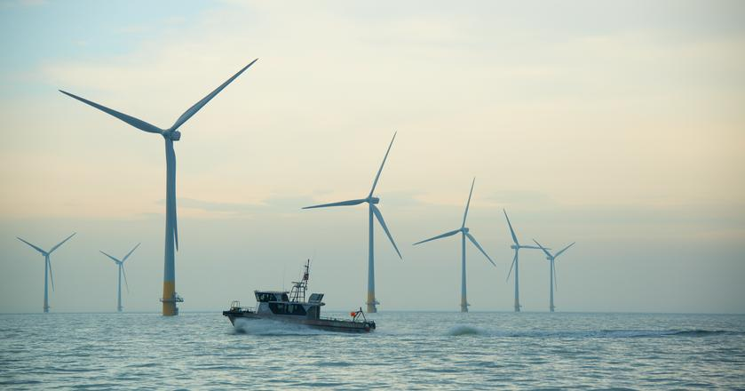 Kentish Flats Extension Offshore Wind Farm.