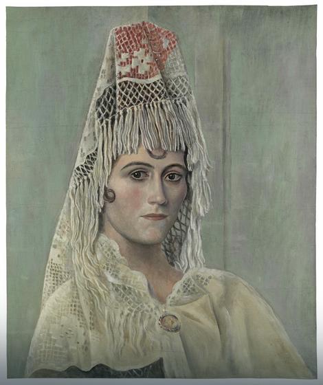 Olga Hohlova sa španskom maramom, 1917.