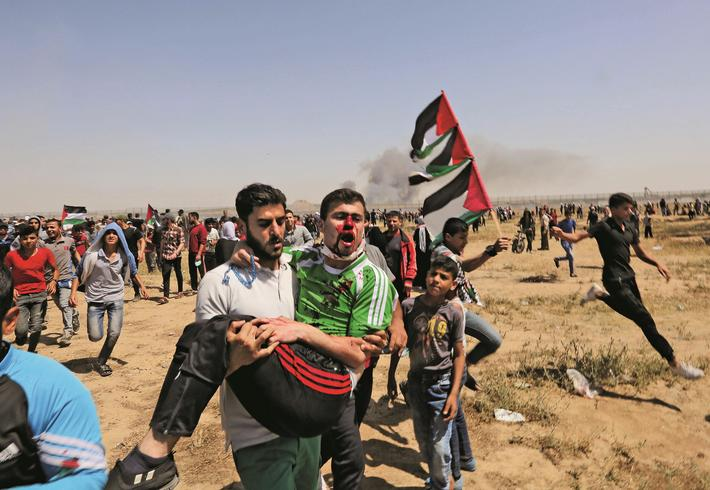 TOPSHOT-PALESTINIAN-ISRAEL-GAZA-CONFLICT-NAKBA