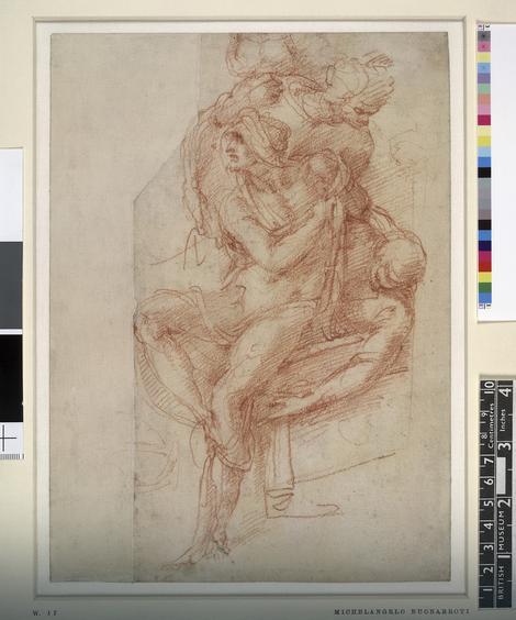 Mikelanđelo, skica za Lazara, oko 1518.
