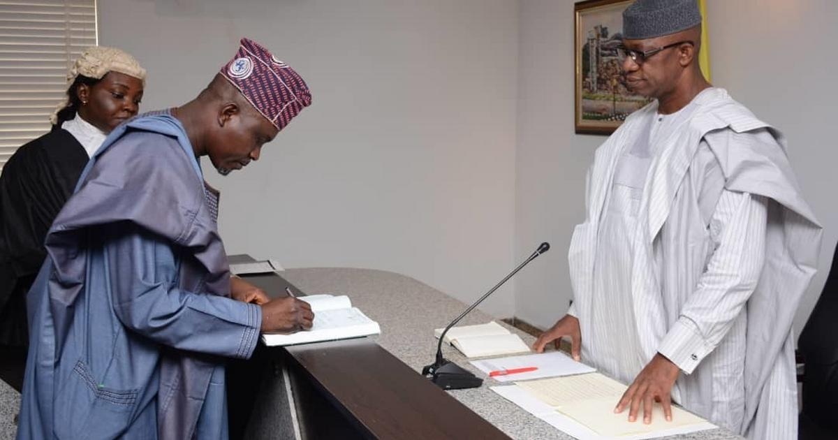 Ogun Gov., Dapo Abiodun swears in SSG, Chief of Staff