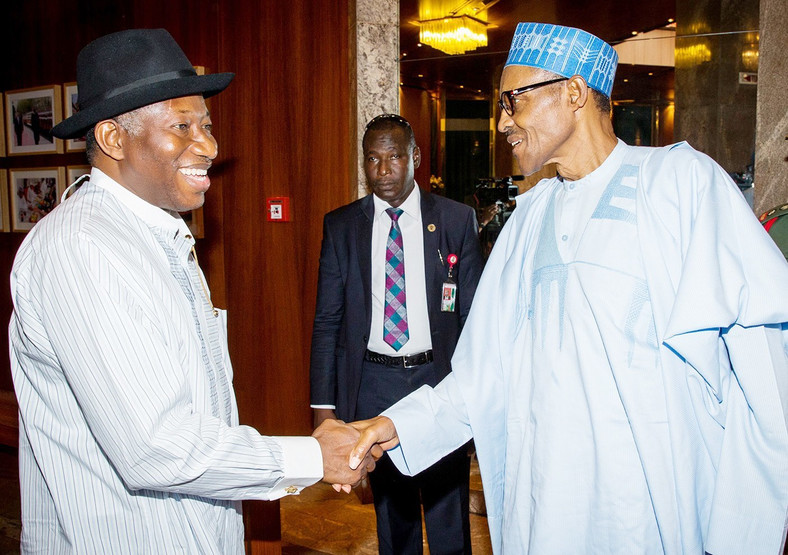 Former President Goodluck Jonathan and President Muhammadu Buhari during the transition season (Punch)