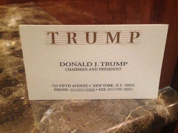 Donald trump allegedly invited former miss hungary to his infamous this is allegedly the business card he handed her which honestly is fine but nothing special i was expecting more gold colourmoves