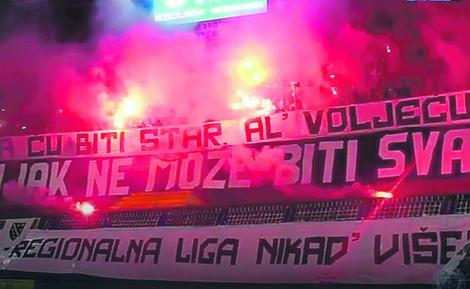 """""""Nikad više"""": Manijaci, navijači Željezničara"""