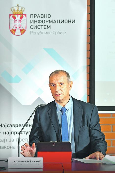 Svi objavljeni podaci su pouzdani i tačni: Dobrosav Milovanović