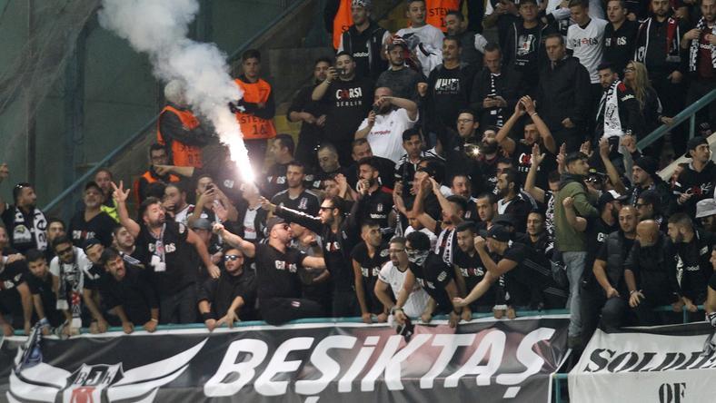 A Besiktas fanatikusai nem könnyítették meg az olaszok életét Isztambulban   Fotó  AFP 8ada92f298