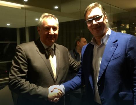 Александр Вучич и Дмитрий Рогозин