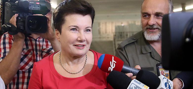 Hanna Gronkiewicz-Waltz na posiedzeniu klubu PO ws. reprywatyzacji