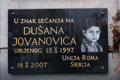 Spomenik u znak sećanja na Dušana