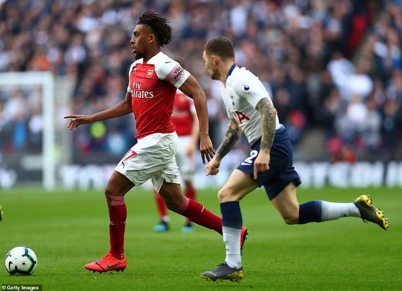 Alex Iwobi was Arsenal's best player in transition against Tottenham  (Getty Images)