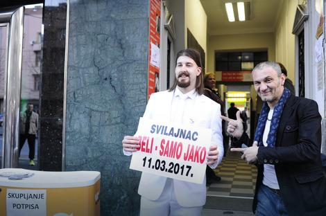 Beli Preletačević u centru Beograda