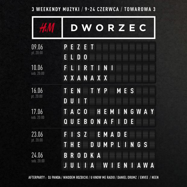Line Up H&M Dworzec
