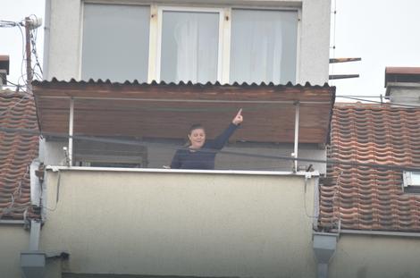 Mirjana Jakšić na terasi svog stana