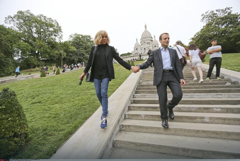 Brigitte Trogneux i Emmanuel Macron