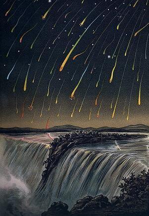 Leonid kiša meteora, 1833