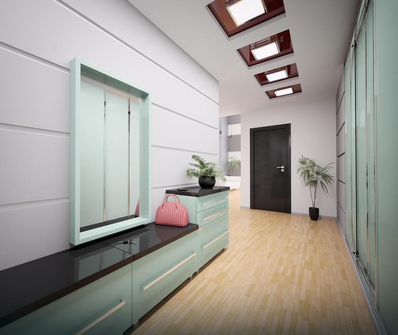 Hol przedpok j jakie materia y zastosowa na pod og ciany i sufit dom - Appartement hal ...