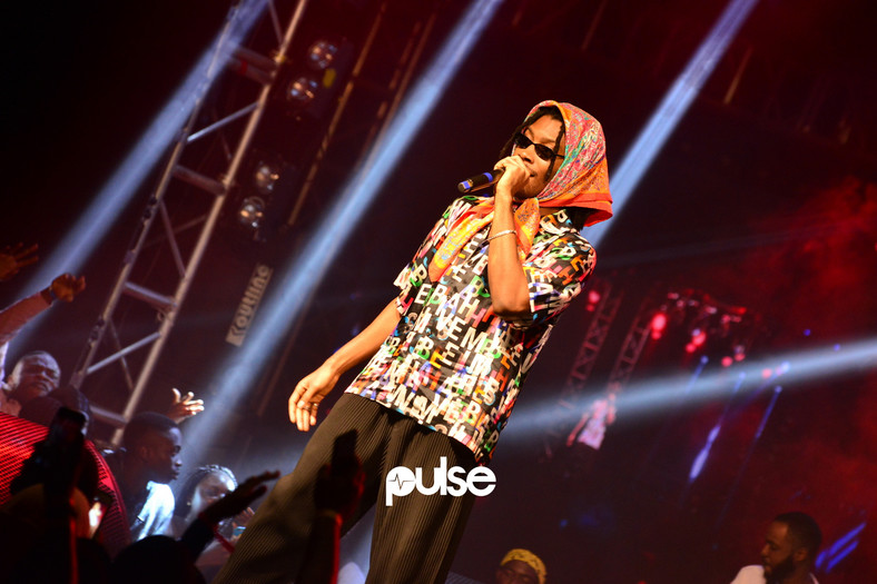 Santi at Homecoming 2019. (Pulse Nigeria)