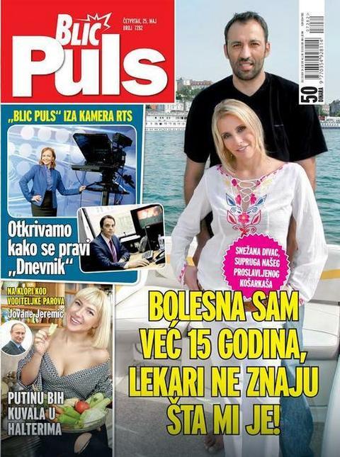 NOVI BLIC PULS donosi: Snežana Divac: BOLESNA SAM već 15 godina, lekari ne znaju šta mi je!