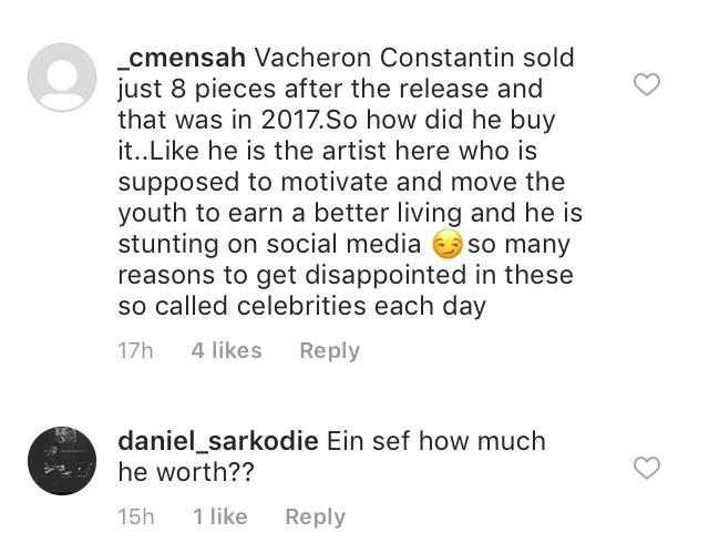 Fans react  to Kuami Eugene's claim