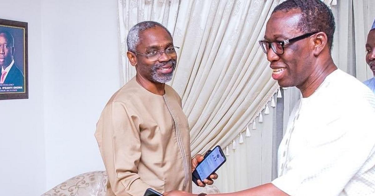 Gov. Okowa felicitates with Gbajabiamila at 57