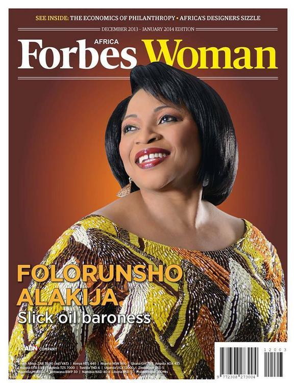 Folorunsho Alakija covers Forbes Magazine