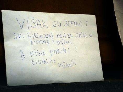Jedna od poruka komunalaca užičkoj vlasti