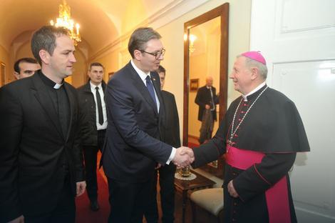 Aleksandar Vučić i kadinal Božanić